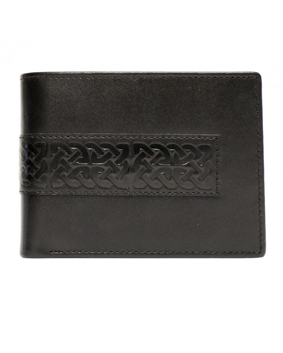 Patrick Francis black leather wallet BK9050