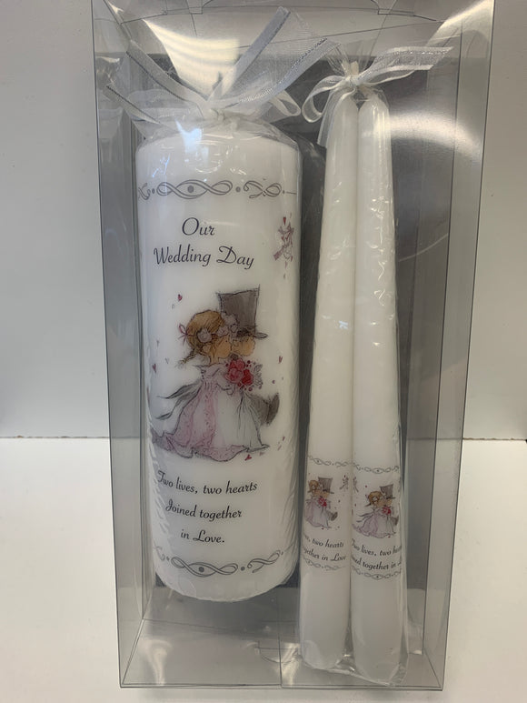 Our Wedding Day Candle Set
