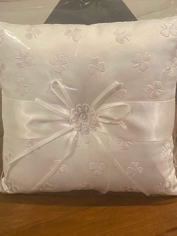 Irish wedding ring pillow