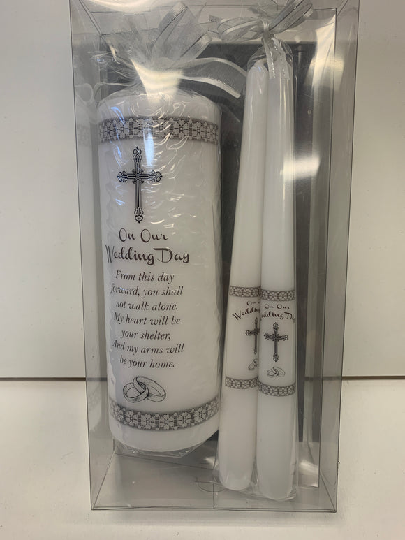 On Our Wedding Day Candle Set
