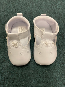Girls Leather Baptism Shoes
