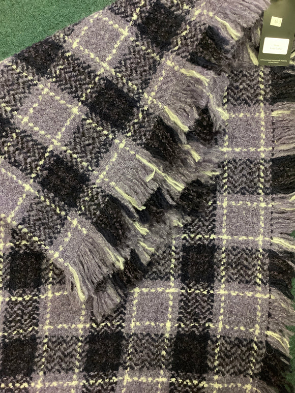 John brannigan violet tartan throw