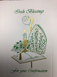 Irish blessing in confirmation card