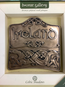 Ireland bronze wall plaque