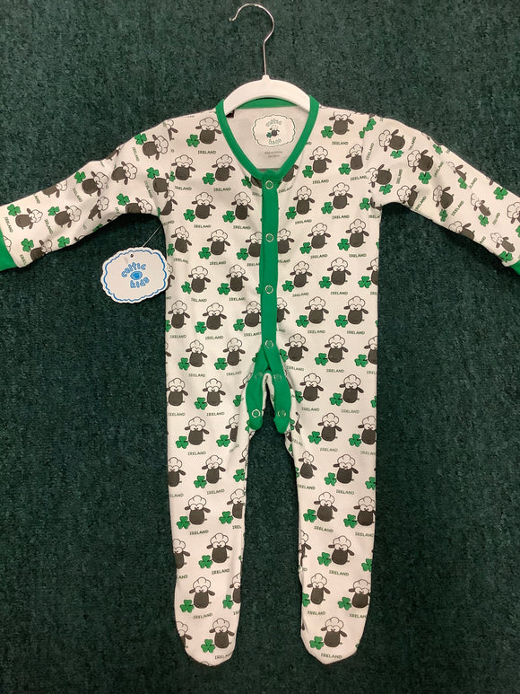 Sheep shamrock baby grow