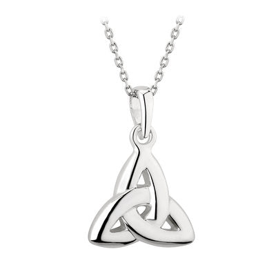 SILVER DOUBLE SIDED TRINITY KNOT PENDANT