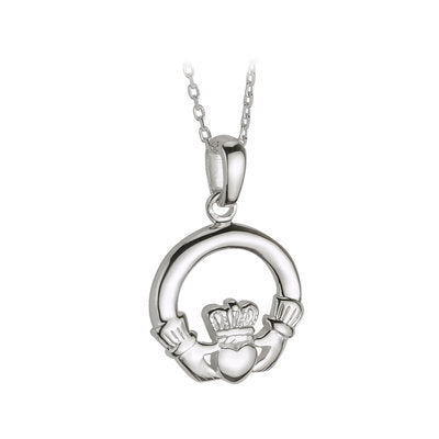 SILVER MEDIUM CLADDAGH