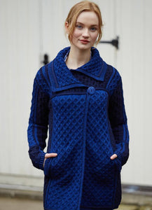 ST. BRIGID SINGLE BUTTON PLATED COAT (Navy Mix) X4289