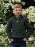 BOYS HALF ZIP SWEATER Z4559