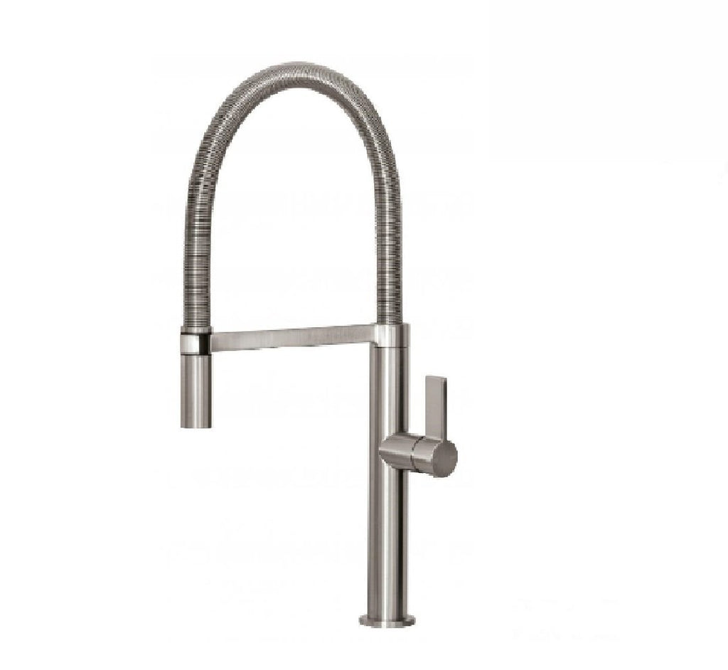 Phoenix Prize Flexible coil sink mixer Brushed nickel (2530530164796)