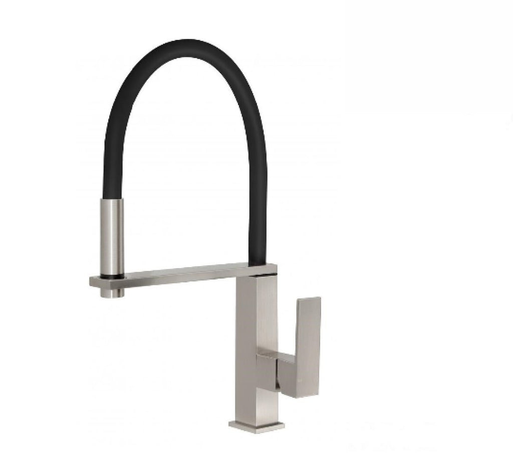 Phoenix Vezz Flexible hose sink mixer square brushed nickel (2530531737660)