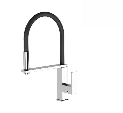 Phoenix Vezz Flexible hose sink mixer square chrome