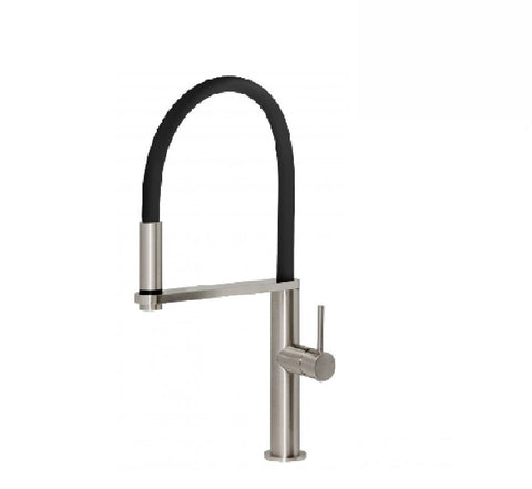 Phoenix Blix Flexible hose sink mixer round  brushed nickel (2530531082300)