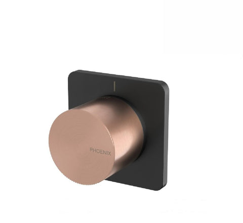 Phoenix Toi Shower Mixer Matte Black/ Brushed Rose Gold (2530555002940)