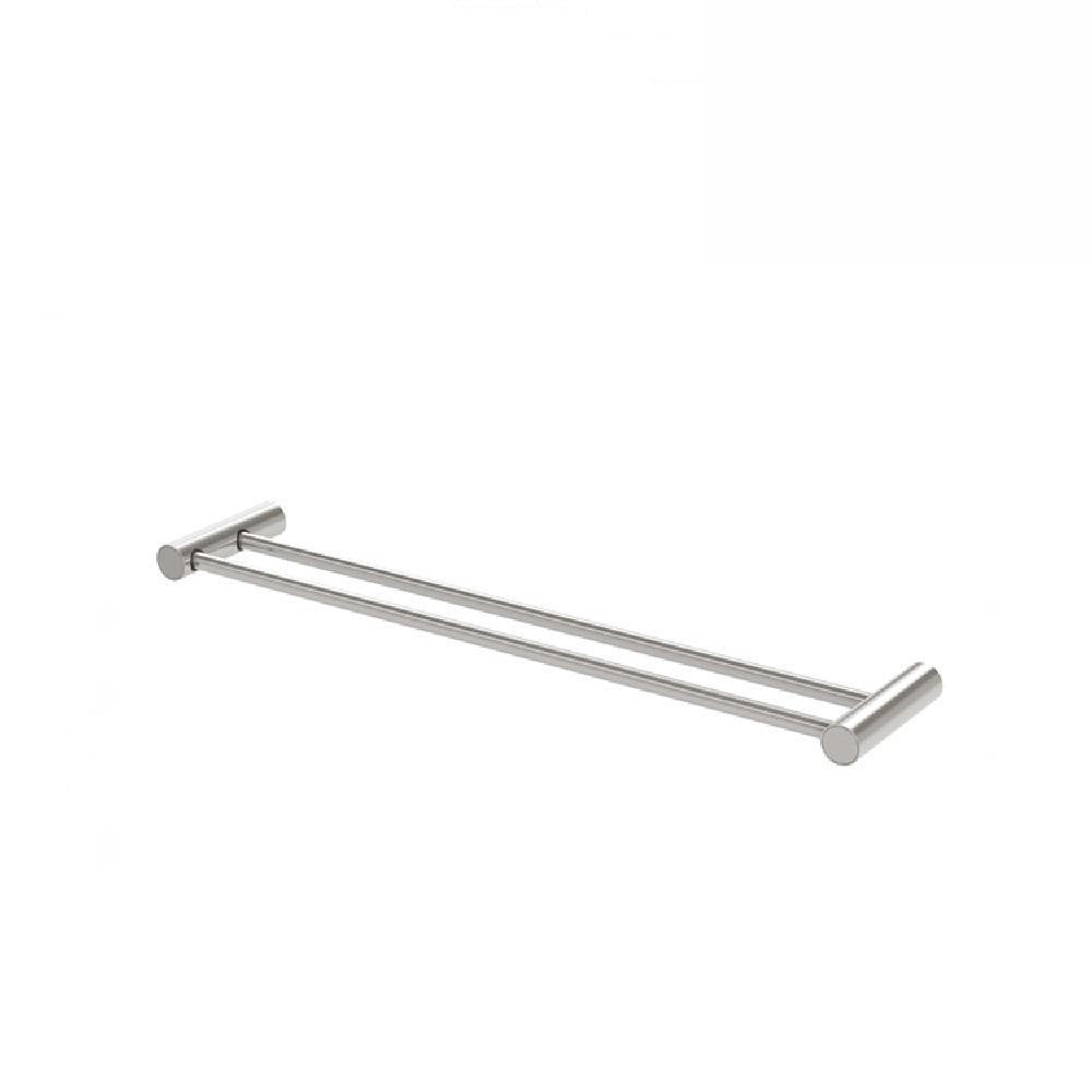 Phoenix Vivid Slimline Double Towel Rail 600mm Brushed Nickel (4129891647548)