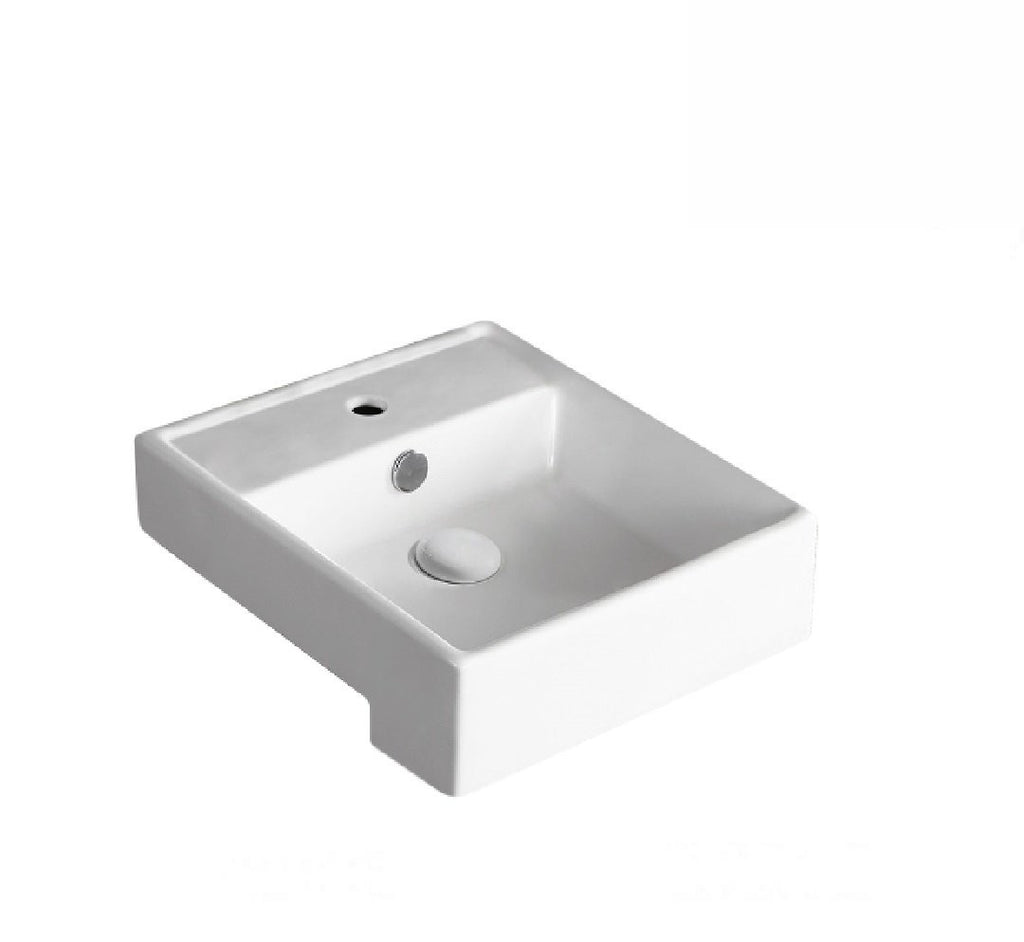 Fienza Semi Recessed Ceramic Basin Helen Junior 1th White