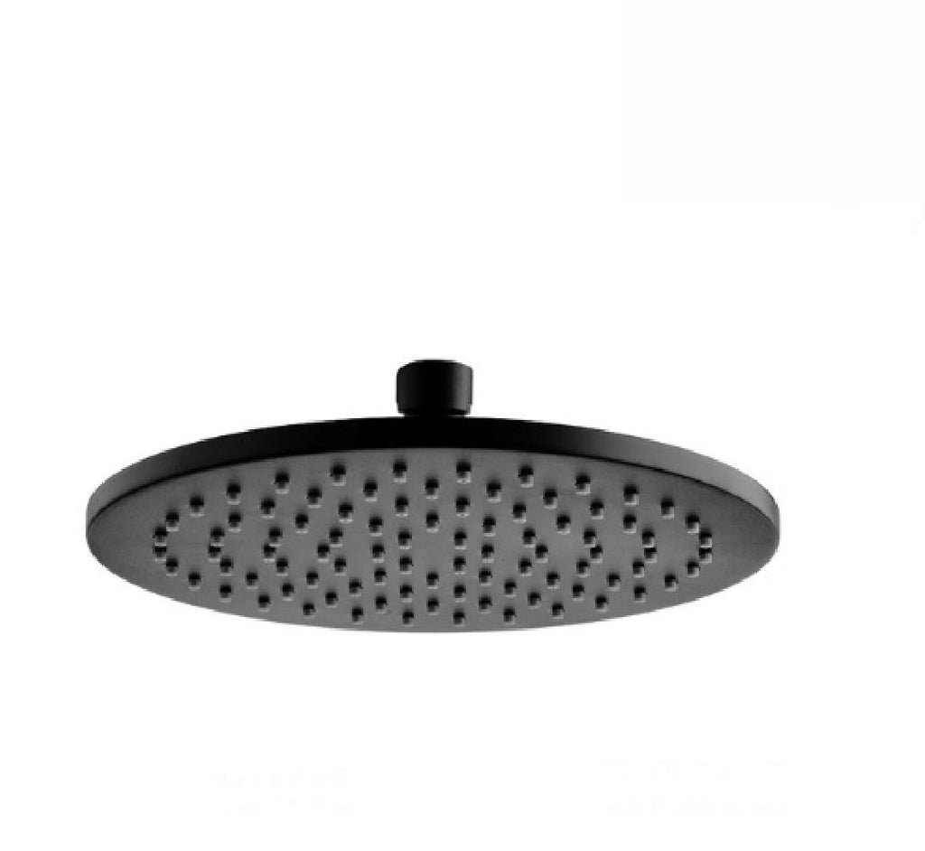 Fienza Round Starry Shower Head 200mm Matte Black (2530547171388)