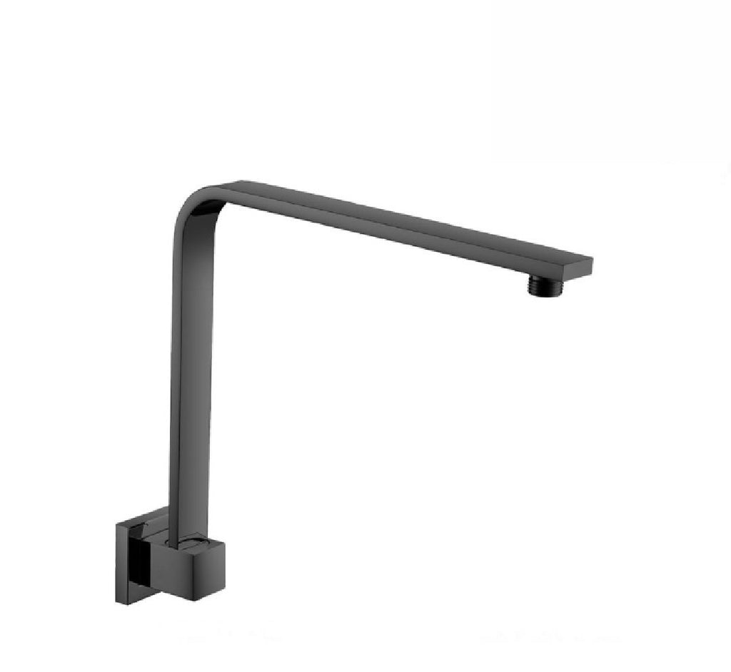 Fienza Square Fixed Gooseneck Arm 350mm Matte Black (2530547925052)