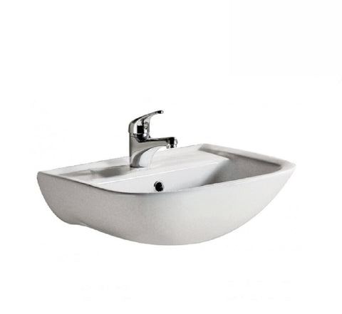 Fienza Wall Hung Ceramic Basin RAK Lara 1th White (2530541469756)