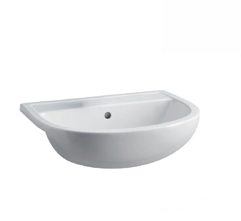 Fienza Semi Recessed Ceramic Basin RAK Compact 1th White
