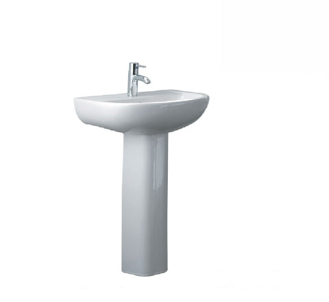 Fienza Wall Basin & Pedestal Compact 550 1th White (2530541633596)
