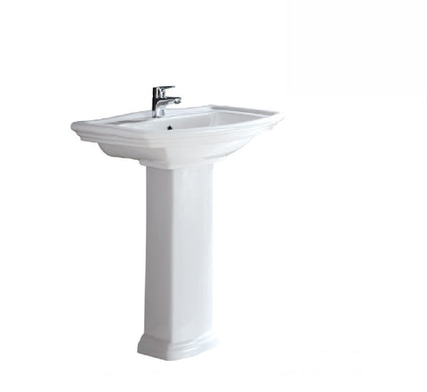 Fienza Wall Basin & Pedestal RAK Washington 1th White (2530541666364)