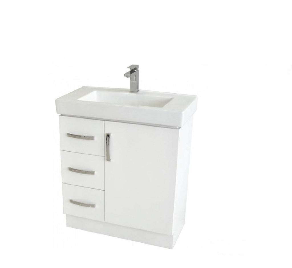 Fienza Regent Slim 750mm Vanity Unit White