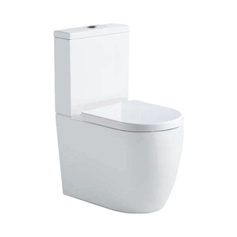 Argent Grace Back to Wall Toilet Suite White
