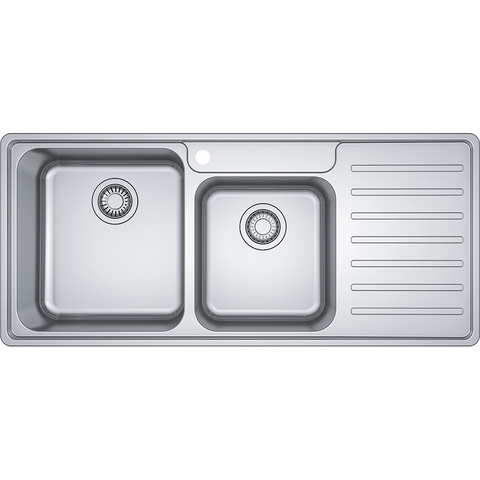 Franke Sink Bell Inset Double Bowl with Right Hand Drainer- Stainless Steel- BCX621RHD (4509066821692)