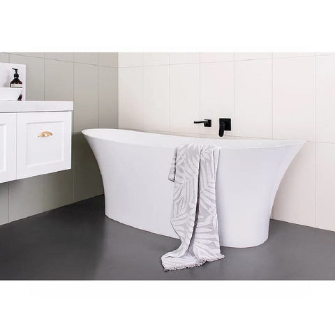 ADP Rise 1700mm Cast Marble Freestanding Bath Matte White TPRISE1700M (4641024245820)