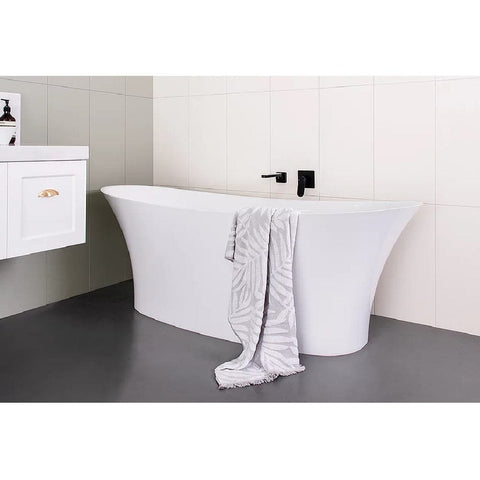 ADP Rise 1700mm Cast Marble Freestanding Bath Gloss White TPRISE1700G (4641024213052)