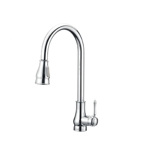 Aquaperla Kitchen Vintage Sink Mixer with Pull Out Chrome CH1018.KM (4670902337596)