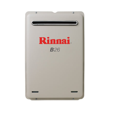 Rinnai Continuous Flow B26L Preset to 50c (LPG) Hot Water Unit B26L50 (4689842372668)