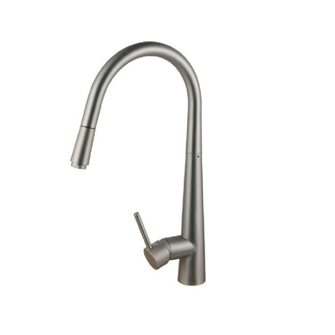 Aquaperla Kitchen Round Sink Mixer with Pull Out Brushed Nickel BU1021.KM (4670902042684)