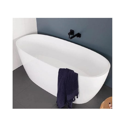 ADP Submerge 1600mm Cast Marble Freestanding Bath Gloss White SUBMBATH1600G (4641023983676)