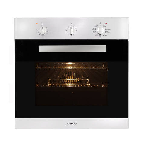 Artusi Oven 60cm 9 Function Built In W/ Minute Minder Stainless Steel AO650X (4615429128252)