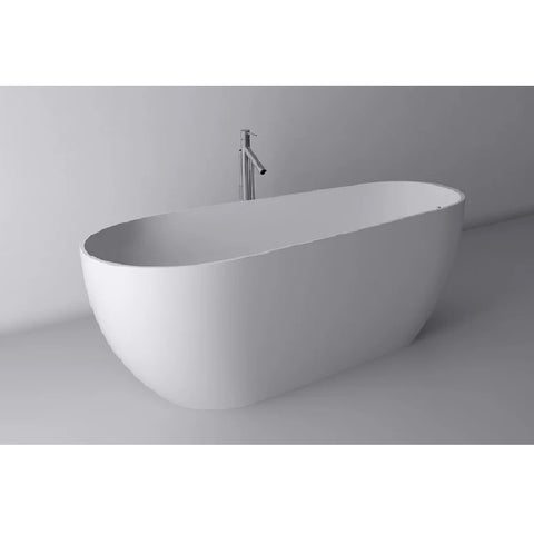 ADP Day Dream 1700mm Cast Marble Freestanding Bath Matte White DAYDBATH1700M (4641024180284)
