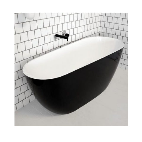 ADP Day Dream 1700mm Cast Marble Freestanding Bath Gloss Black/White DAYDBATH1700B (4641023885372)