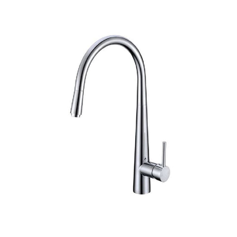 Aquaperla Kitchen Round Sink Mixer with Pull Out Chrome CH1021KM (4670902108220)