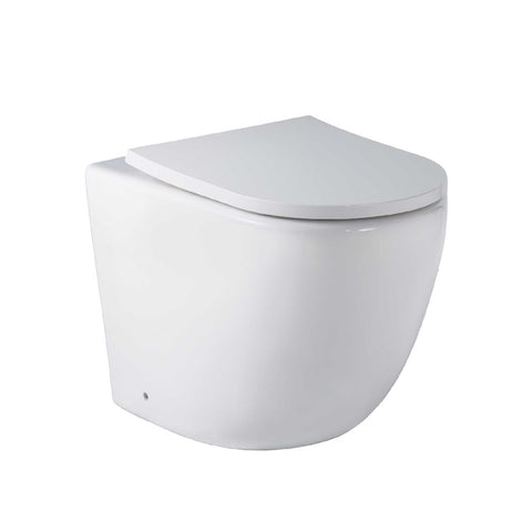 Seima Arko Toilet Pan to Floor Slim Seat Rimless White 191761 (4661499691068)