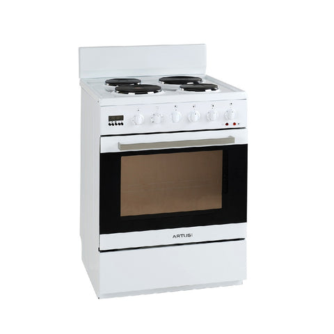 Artusi Oven 60cm Single Upright W/ Handle 7 Function W/ 4 Solid Plates White AFE607W (4615429226556)
