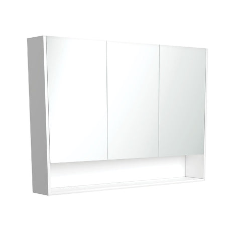 Fienza Mirror Cabinet 1200mm with Undershelf Gloss White PSC1200SW (4689840275516)