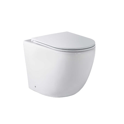 Seima Arko Toilet Pan to Floor Flat Seat Rimless White 191763 (4661499723836)