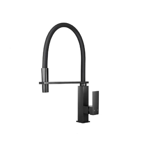 Aquaperla Kitchen Square Sink Mixer with Pull Out Matte Black OX1032.KM (4665630621756)
