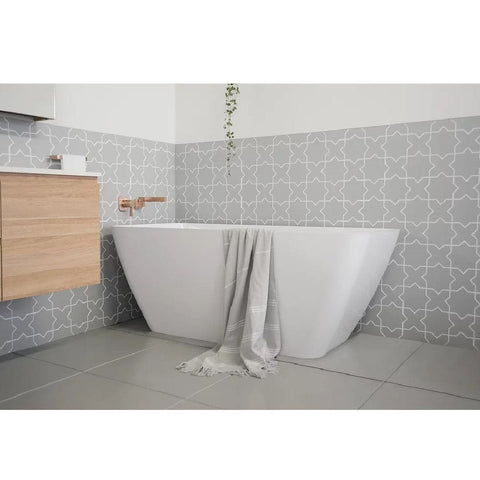 ADP Utopia 1600mm Cast Marble Freestanding Bath Gloss White UTOPBATH1600G (4641024147516)