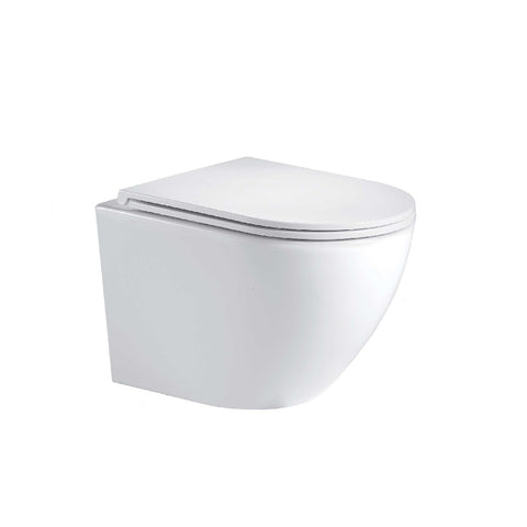 Seima Arko Toilet Wall Hung Rimless Pan Only Flat Seat White 191165 (4661499822140)