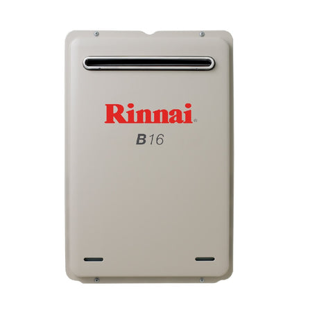 Rinnai Continuous Flow B16L Preset to 50c (LPG) Hot Water Unit B16L50 (4689841979452)