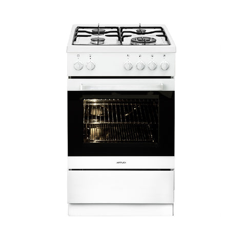 Artusi Cooktop 54cm Upright Cooker 4 Functions Flame Failure White AFGE5440W (4615427719228)