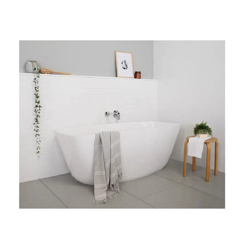 ADP Slumber 1600mm Cast Marble Freestanding Bath Gloss White SLUMBATH1600G (4641023950908)
