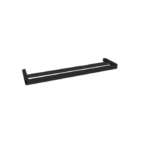ADP Brooklyn Double Towel Rail 600mm Matte Black JACCNYBRKDT6BK